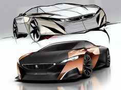 The official design story of the Peugeot Onyx Concept, the V8-powered supercar that features a unique use of materials, with a bodywork in carbon fiber and copper and an interior with recyclable felt and wood produced from used newspapers.