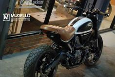ducati scrambler sixty2 fitted with classic brown leather seat - Google Search