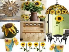 sunflower kitchen decor | Kitchen Trends Sunflower Decoration