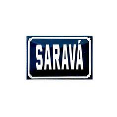 Placa Decorativa Esmaltada Saravá. Placavintage, estilo placa de rua antiga, esmaltada. Deixa lindo qualquer cantinho da casa! Tamanho: A:10cm x C:15cm Cor: A