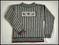 grahic black-and-white - love the sampler-like chest panel