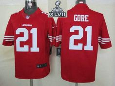 2013 Super Bowl XLVII NEW San Francisco 49ers 21 Frank Gore Red jerseys  (Limited) bbbab0dde