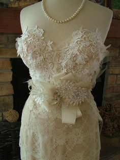 Wedding Bustier custom dress with any style skirt Marilyn Monroe 1950s vintage inspired lace dress on Etsy, $945.00