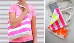 Neon Painted, BOXED-out Tote