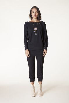 Paolo Pant in Black Bamboo Thermal | Carol Young | Undesigned