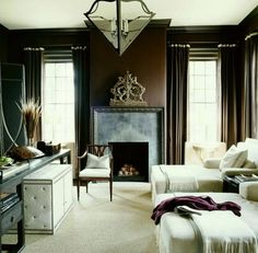 Bobby McAlpine = A Badass Architect You Will Love! - laurel home | handsome masculine bedroom with chocolate brown walls