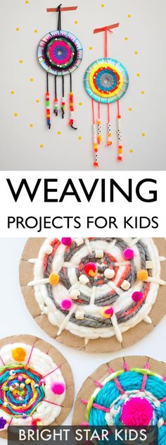 For more child-friendly ideas and DIY's go to www.blog.brightstarkids.com.au #weavingfun #craftforkids #weavingprojects