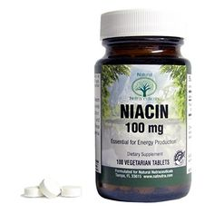 Natural Nutra, Niacin (Vitamin B3) Supplement, Flush Free, 100 mg, 100 Tablets -- Read more at the image link.