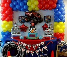 Ideas de Cumpleaños Fiesta Blaze the Monster Machine 5th Birthday Party Ideas, Birthday Themes For Boys, Cars Birthday Parties, 4th Birthday, Monster Trucks, Monster Truck Birthday, Monster Jam, Blaze The Monster Machine, Hot Wheels Party