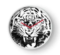 Clock 'tiger narling' by Mindgoop