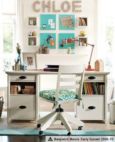 White Computer Desks, White Desk Furniture & Chatham Study | PBteen