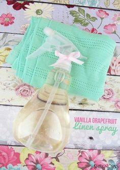 A gorgeous recipe for vanilla grapefruit linen spray