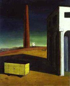 A angústia da partida, 1913-1914 Giorgio De Chirico (Itália, 1888-1978) Óleo sobre tela Albright-Knox Art Gallery Búfalo, EUA