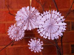 3D Paper Snow Flakes_DIY