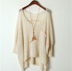De manga comprida de malha Tops mulheres Sweater Casual 2016 Vetement Oversized Crochet Tricotado inverno mulheres suéteres e pulôveres Y658