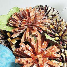 Paper Crysanthemums
