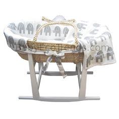 USA Made Moses Basket Stand with Moses Basket :: Baby Eco Trends