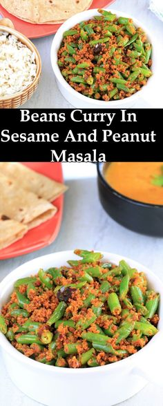 Beans In Sesame and Peanut Masala recipe is a simple recipe that does not call for much time or ingredients. This is a dry vegetables recipe that does not use water or other liquids. I make this often when i want something easy and healthy.