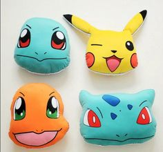 Pokemon Go Figure Happy Pikachu Pillow Anime Soft Stuffed Plush Toy Doll Cushion 30cm*35cm Ear Excluded | Gamers Goodies
