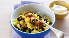 Breakfast couscous with dried fruit