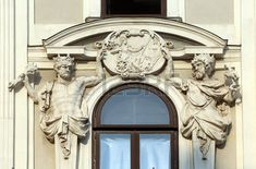 Architectural artistic decorations on Hofburg palace, Vienna; Hofburg was residence of Habsburg dynasty, rulers of Austro-Hungarian Empire. Vienna, Austria on October photo Austro Hungarian, October 10, Vienna Austria, Greek Mythology, Architecture Details, Palace, Empire, Lion Sculpture, Decorations