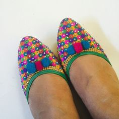 Final price Multicolor shoes Gorgeous flat shoes to die for . Very comfortable. Comes from India . I m size 8.5 and its little snug in me as feet are wide . Perfect for size 8. Pls ask any Q before u hit buy now  New without tag but bought for retail as shoes are sold like this in India . Shoes Flats & Loafers