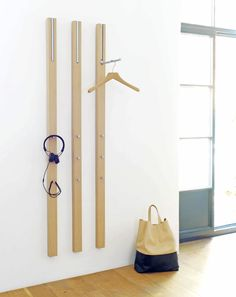 Wall-mounted coat rack / contemporary LINE by Apartement 8 Schönbuch