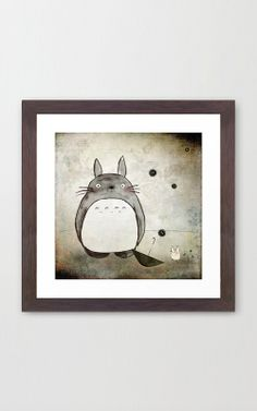 Spirit of Totoro Framed Print   dotandbo.com