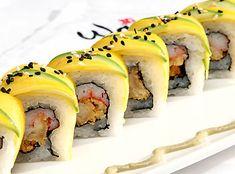 DRAGON ROLL.-Disfruta del sabor y perfume del mango en este rollo de sushi que preparan en Wa Teppan & Sushi Bar.