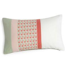 Bedruckter Kissenbezug aus Baumwolle grün/rosa 30x50 cm BELANA