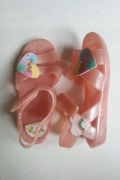Vintage Hasbro My Little Pony Jelly Sandals Size 8 Toddler Pink Velcro