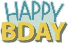 Happy BDay - Free SVG File from SVGCuts #papercrafts