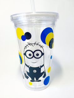 Acrylic Tumbler with Straw and Lid by VinylMeeThis on Etsy