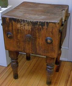 Bookbinder S H F Hea Butcher Block Cart Tables Blocks