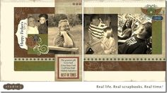 Studio J Online Design Software ~ Father's Day Layout by Pamela O'Connor