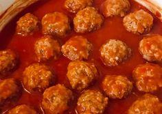 Paradicsomos húsgombóc 🍅 recept foto Kaja, Sweet Life, Spicy, Bacon, Good Food, Food And Drink, Cooking, Ethnic Recipes, Cuisine
