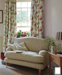 Find sophisticated detail in every Laura Ashley collection - home furnishings, children's room decor, and women, girls & men's fashion. Laura Ashley Living Room, Laura Ashley Home, Laura Ashley Drapes, Ashley Bedroom, Cottage Living, Home Living Room, Childrens Room Decor, Cottage Interiors, Home And Deco