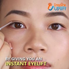 The Anti-Aging Eyelid Tape provides an instant eye lift using thin, transparent strips which cleverly take years off of your appearance! Your face will look rejuvenated, refreshed, awake, vibrant and more youthful as soon as you apply them! Diy Beauty, Beauty Skin, Beauty Makeup, Beauty Hacks, Beauty Tips, Beauty Care, Face Beauty, Eye Makeup Tips, Skin Makeup