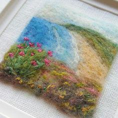 Shropshire-based textile artist and tutor Maxine Smith Needle Felted Animals, Felt Animals, Needle Felting, Nuno Felting, Wet Felting Projects, Felting Tutorials, Felt Projects, Felted Wool Crafts, Felt Crafts