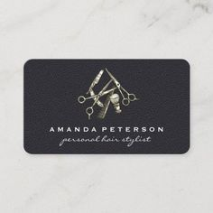 Black Leather | Salon Chair | Barber Shop Tools Business Card Barber Business Cards, Luxury Business Cards, Hairstylist Business Cards, Elegant Business Cards, Cool Business Cards, Professional Business Cards, Hair Stylist Gifts, Hair Stylists, Hair Specialist