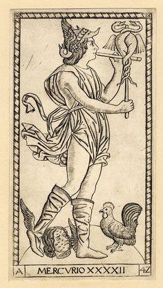 Mercury. Print made by Anonymous. около 1470-1480. Феррара.