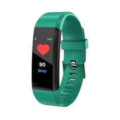 Bluetooth Fitness Tracker USB Smartband Color Screen Heart Rate Monitor Smart Bracelet Sport Wristband (Green), Coutlet