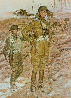 Soldiers of the First World War and Colonial wars. Their battles, their units, their awards and their suffering. American War, American Soldiers, Military Art, Military History, Military Fashion, Commonwealth, Us Army Uniforms, Ww1 Art, Military Drawings