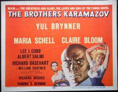 THE BROTHERS KARAMAZOV MOVIE POSTER Yul Brynner Fyodor Dostoyevsky TITLE CARD