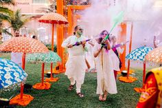 There are so many amazing ideas in this wedding that we've lost count of each of them. The holi party is a definite winner alongside the fantabulous outfits of the bride - a popular pastel Sabya lehen. Indian Wedding Planning, Wedding Planning Websites, Wedding Planner, Destination Wedding, Holi Party, Top Photographers, Plan Your Wedding, Goa, Colorful Decor
