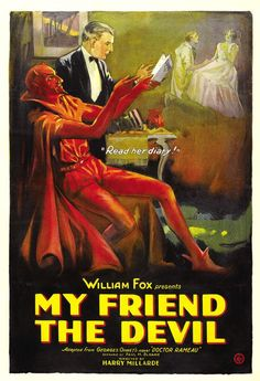 "1922 movie poster for ""My Friend the Devil"""