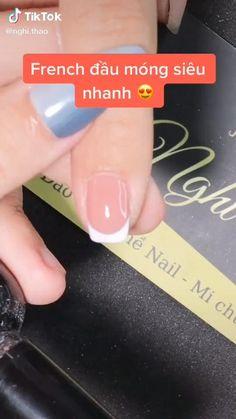 Nail french #nail #french #nghi #thao Nail Art For Girls, French Nail Art, Grunge Nails, Nail Inspo, Nail Art Designs, Nail Polish, Make It Yourself, Diy, Fashion