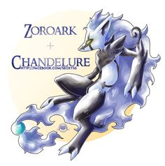 [Closed] Zoroark x Chandelure by on DeviantArt Pokemon Mix, Real Pokemon, Pokemon Fusion Art, Pokemon Stuff, Pokemon Breeds, Pokemon Gijinka, She Wolf, Weird Creatures, Pokemon Pictures
