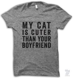 Maybe you're ready to rock this blunt T-shirt.   24 Things Missing From Your Crazy Cat Lady Life
