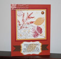 Stampin Up Thanksgiving Cards | The Paper Pixie: September 2010